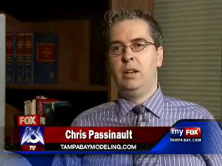 A screen capture of one of author C. A. Passinault's television interviews. This one was for Tampa Bay Modeling on FOX 13 Tampa Bay. Expect more soon.
