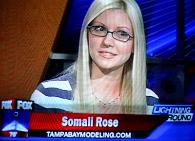 Tampa Bay Modeling model, actor, and writer Somali Rose was a featured guest on the July 7 FOX 13 Lightning Round. Click image to watch. All links open new browser windows.